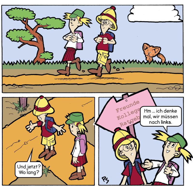 Comic von Links