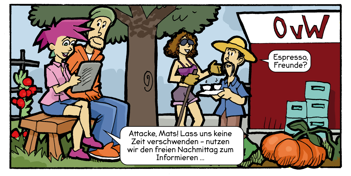 Comic von Presse